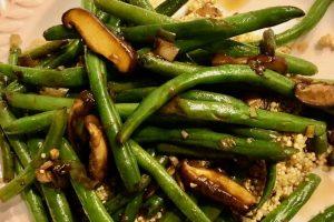 Shiitake mushroom green beans and quinoa recipe