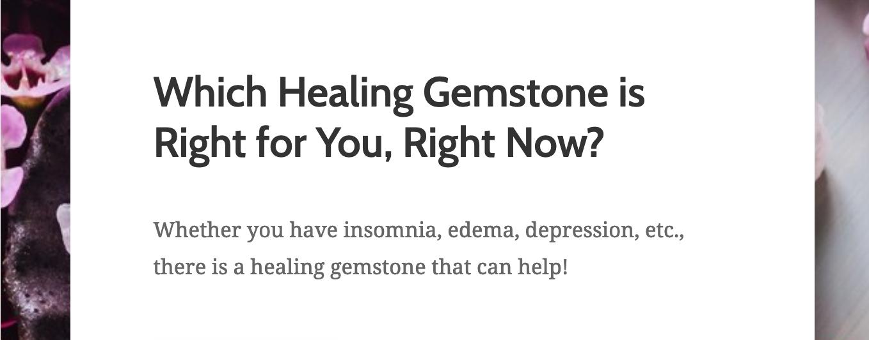 Healing gemstones quiz